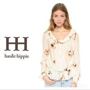 Haute Hippie Ruffle Collar Blouse